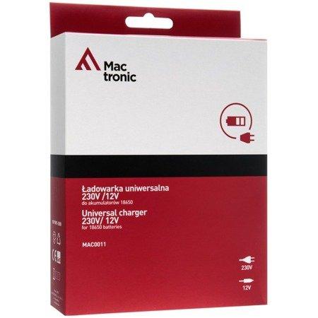 Ładowarka uniwersalna 230V /12V Mactronic do akumulatorów 18650