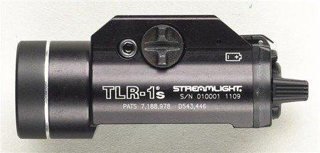 Latarka taktyczna, Streamlight TLR®-1S,bateryjna (2 × CR123A), zestaw (baterie), pudełko