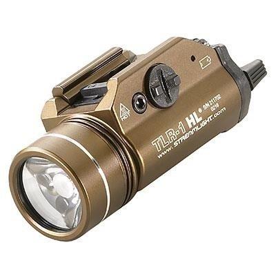 Latarka taktyczna na broń Streamlight TLR-1 HL Flat Dark Earth Brown, 1000 lm