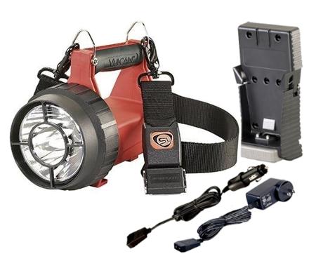 Strażacki szperacz akumulatorowy Vulcan LED ATEX w zestawie, 180 lm