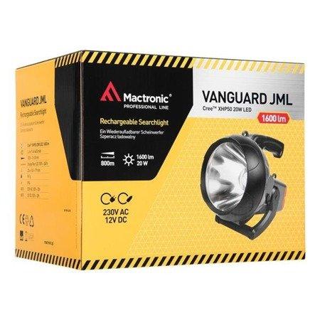 Szperacz ładowalny Mactronic  VANGUARD JML, 1600 lm